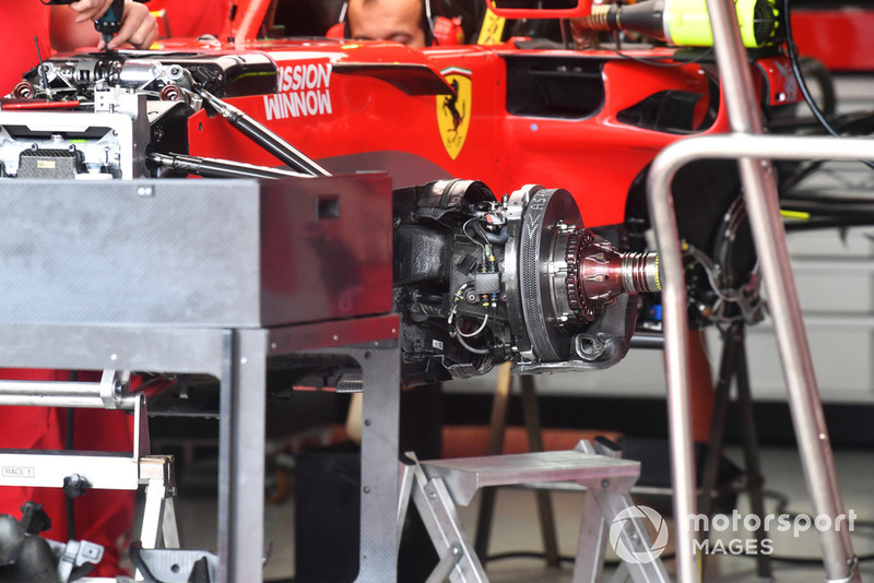 Ferrari SF71H front brake and wheel hub