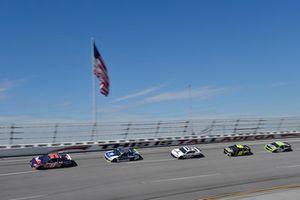 Denny Hamlin, Joe Gibbs Racing, Toyota Camry FedEx Ground, Alex Bowman, Hendrick Motorsports, Chevrolet Camaro Nationwide