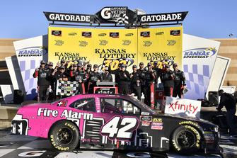 John Hunter Nemechek, Chip Ganassi Racing, Chevrolet Camaro Chevrolet Fire Alarm Services, Inc. wins
