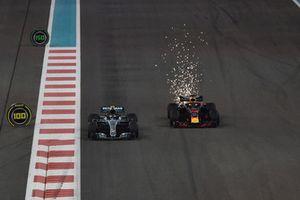 Valtteri Bottas, Mercedes-AMG F1 W09 en Daniel Ricciardo, Red Bull Racing RB14