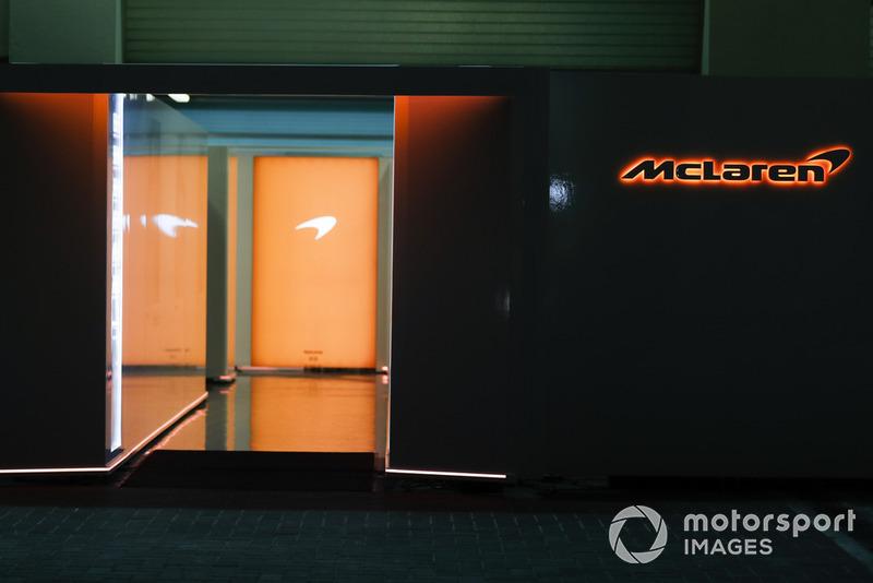 La entrada a la unidad de McLaren