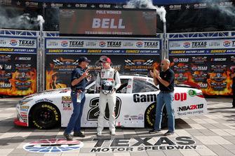 Pole sitter Christopher Bell, Joe Gibbs Racing, Toyota Camry GameStop NBA 2K19
