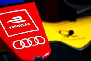 Эмблема Audi на носовом обтекателе Audi e-tron FE05