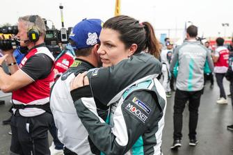 Teammates Katherine Legge, Rahal Letterman Lanigan Racing, Bryan Sellers, Rahal Letterman Lanigan Racing