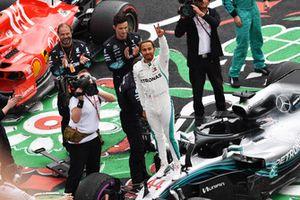 Lewis Hamilton, Mercedes AMG F1 fête son titre mondial