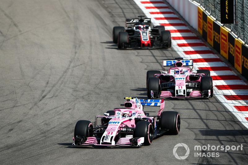 В третий раз в четырех гонках с момента своего переименования и продажи новым собственникам оба гонщика команды Racing Point Force India заработали очки – в Сочи они замкнули десятку