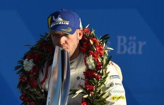 Sam Bird, Envision Virgin Racing, 3rd position, on the podium