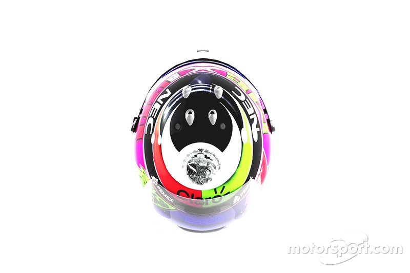 Casco especial para Sergio Pérez, Racing Point Force India para el GP de México