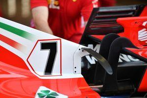 Ferrari SF71H engine cover wing detail