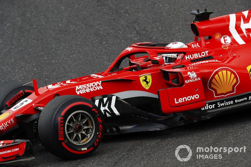 6e : Sebastian Vettel (Ferrari)