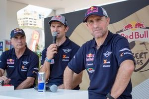 #300 X-Raid Mini JCW Team: Carlos Sainz, #308 X-Raid Mini JCW Team: Cyril Despres, #304 X-Raid Mini JCW Team: Stéphane Peterhansel