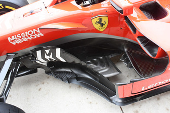 Ferrari SF71H detalle de bargeboard