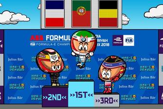 El podio del ePrix de Ad Diriyah 2018 de Fórmula E, por MinEDrivers.