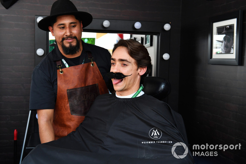 Esteban Gutierrez at Movember Barbers shop