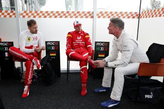 Sebastian Vettel, Mick Schumacher, David Coulthard