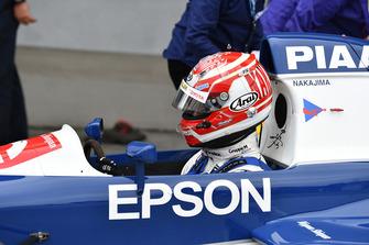 Kazuki Nakajima, Tyrrell 017 lors du tour de démonstration des Légendes
