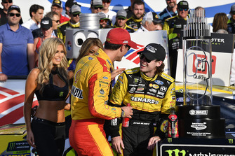 Ryan Blaney, Team Penske, Ford Fusion Menards/Pennzoil wins and Joey Logano