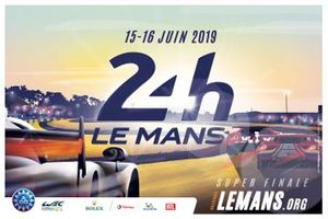 The official poster of the 2019 Le Mans 24 Hours