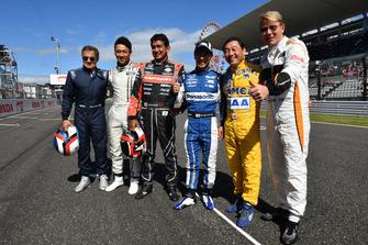 Jean Alesi, Kazuki Nakajima, Aguri Suzuki, Takuma Sato, Satoru Nakajima t Mika Hakkinen au Legends F1 30th Anniversary Lap Demonstration