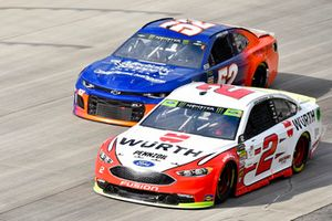 Brad Keselowski, Team Penske, Ford Fusion Wurth and Harrison Rhodes, Rick Ware Racing, Ford Fusion