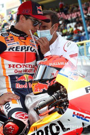 Marc Márquez, equipo Repsol Honda, Alberto Puig, director del equipo Repsol Honda