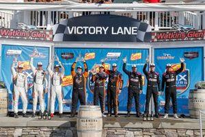 #74 Riley Motorsports Ligier JS P320, LMP3: Gar Robinson, Felipe Fraga, Scott Andrews, #54 Core Autosport Ligier JS P320, LMP3: Jonathan Bennett, Colin Braun, George Kurtz, #91 Riley Motorsports Ligier JS P320, LMP3: Jim Cox, Dylan Murry, Jeroen Bleekemolen