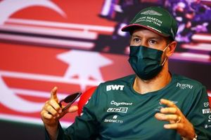 Sebastian Vettel, Aston Martin at press conference