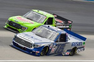 Austin Hill, Hattori Racing Enterprises, Toyota Tundra AISIN, Todd Gilliland, Front Row Motorsports, Ford F-150 Speedy Cash