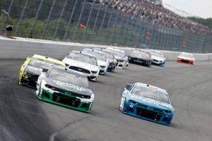 Corey LaJoie, Spire Motorsports, Chevrolet Camaro Nations Guard and Erik Jones, Richard Petty Motorsports, Chevrolet Camaro Medallion Bank