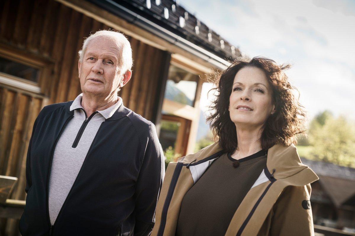 Dr. Helmut Marko y Tanja Bauer
