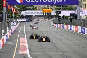 Juri Vips, Hitech Grand Prix and Liam Lawson, Hitech Grand Prix