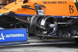 McLaren MCL35M brake drum detail