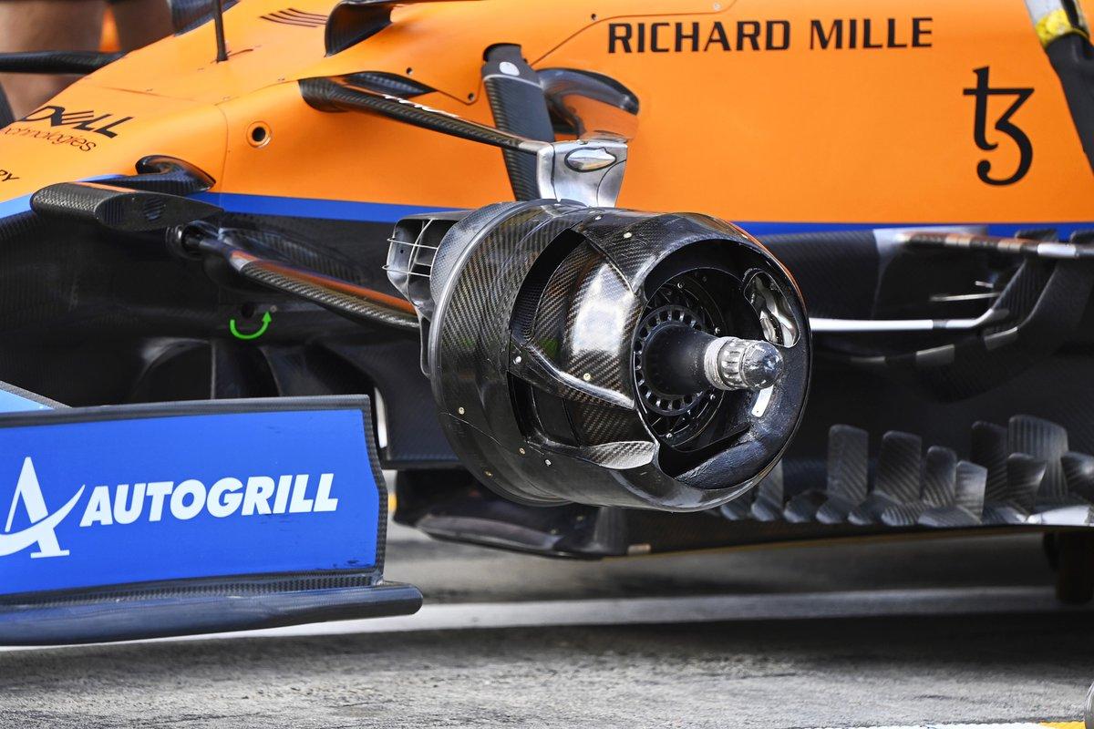 McLaren MCL35M front brake drum detail