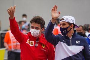 Charles Leclerc, Ferrari, Pierre Gasly, AlphaTauri