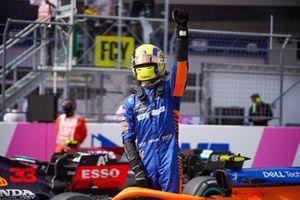 Third place Lando Norris, McLaren