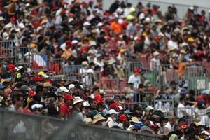 Fans fill out the grandstands