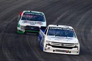 William Byron, Rackley W.A.R., Chevrolet Silverado Cruisin Sports/Rackley Roofinga nd Ryan Preece, Team DGR, Ford F-150 Hunt Brothers Pizza