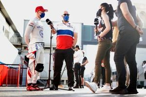 Nikita Mazepin, Haas F1, is interviewed