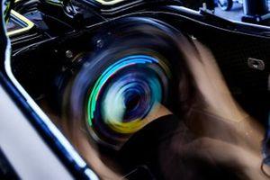 Steering wheel in the Mercedes W12
