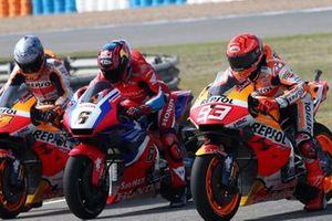 Marc Marquez, Repsol Honda Team, Stefan Bradl, Honda HRC, Pol Espargaro, Repsol Honda Team