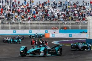 Sam Bird, Jaguar Racing, Jaguar I-TYPE 5, Tom Blomqvist, NIO 333 001, Lucas Di Grassi, Audi Sport ABT Schaeffler, Audi e-tron FE07