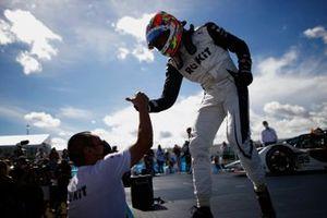 Ganador Edoardo Mortara, Venturi Racing, celebra