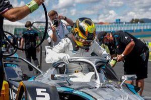 Stoffel Vandoorne, Mercedes Benz EQ, sur la grille de départ