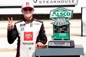 Ty Giibs, Joe Gibbs Racing, Toyota Supra Joe Gibbs Racing celebrates in victory lane