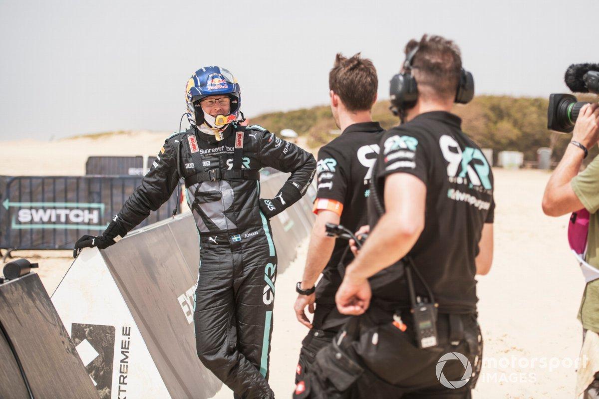 Johan Kristoffersson, Rosberg X Racing, se prepara para el cambio de piloto