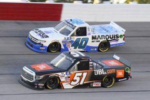 #51: Corey Heim, Kyle Busch Motorsports, Toyota Tundra JBL, #40: Ryan Truex, Niece Motorsports, Chevrolet Silverado Marquis Spas
