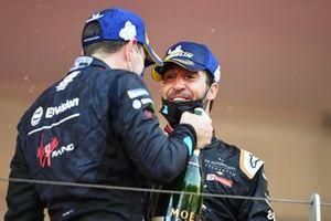 Robin Frijns, Envision Virgin Racing, Antonio Felix Da Costa, DS Techeetah, sul podio