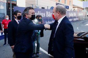 Alejandro Agag, presidente de Formula E, con el príncipe Alberto de Mónaco