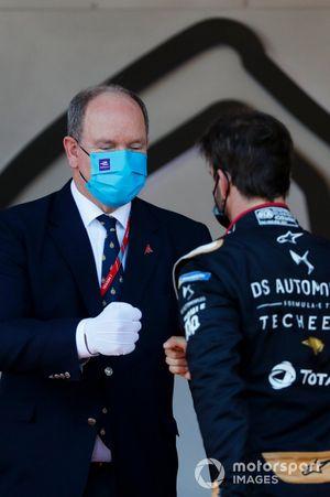 Prince Albert of Monaco and Race winner Antonio Felix Da Costa, DS Techeetah