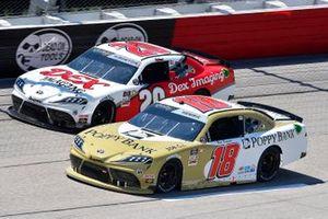 Daniel Hemric, Joe Gibbs Racing, Toyota Supra Poppy Bank, Harrison Burton, Joe Gibbs Racing, Toyota Supra DEX Imaging